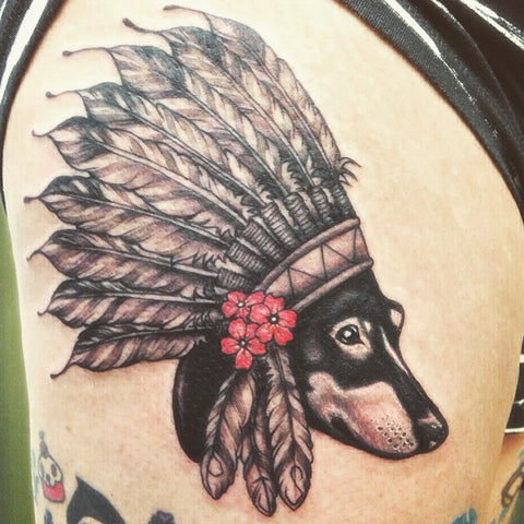 Wiener Dog Spirit Animal Tattoo