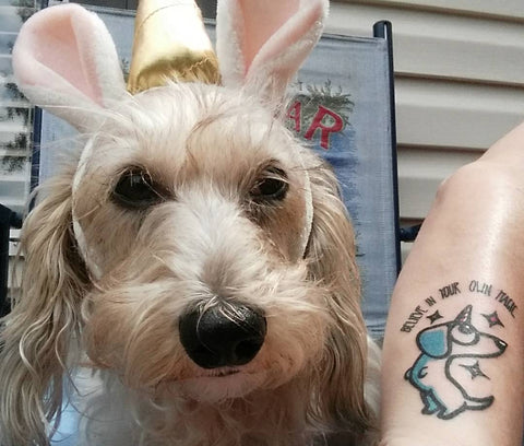 weeniecorn tattoo dachshund