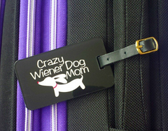 Dachshund luggage tag - traveler gift idea