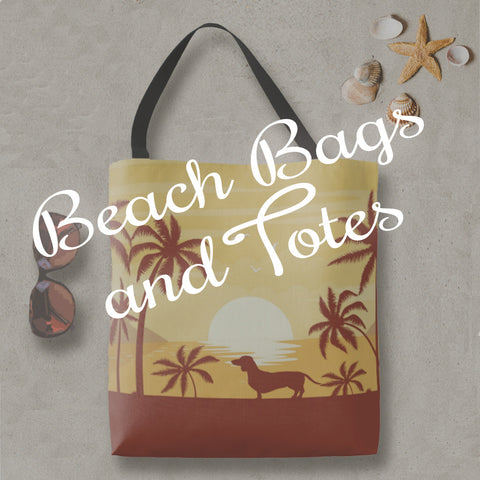 wiener dog beach bags