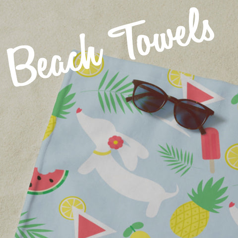 dachshund beach towels