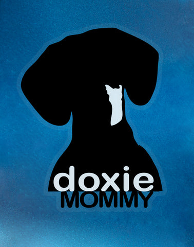 Doxie Mommy Car Cling