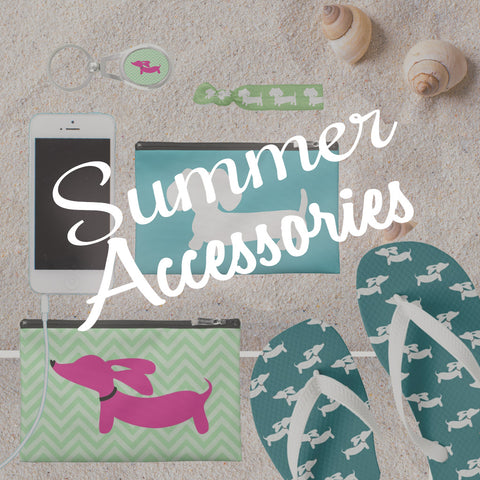 dachshund summer accessories - flip flops