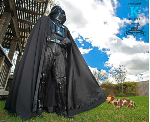darth vader with doxie