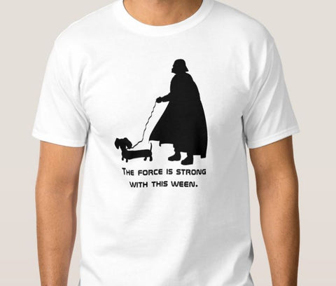 daddy vader dachshund shirt walking dog