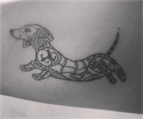 black dachshund tattoo