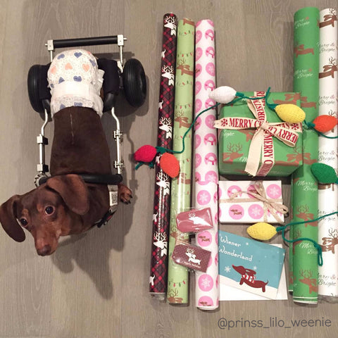 Wiener Dogs, Snowflakes and Snowmen Wrapping Paper - The Smoothe Store - 3