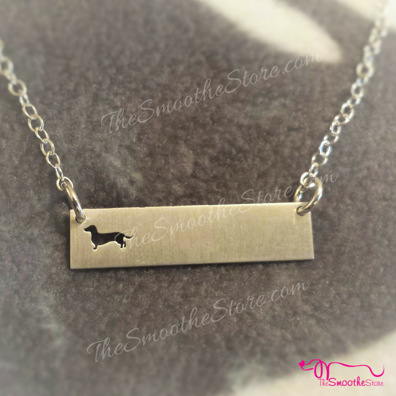 Delicate Dachshund Bar Necklace - The Smoothe Store - 1