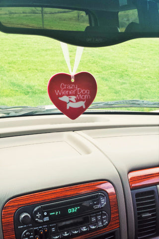 Crazy Wiener Dog Mom Rear View Mirror Car Charm - The Smoothe Store - 3