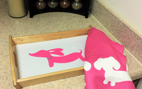 Pink Dachshund Serving Tray - The Smoothe Store