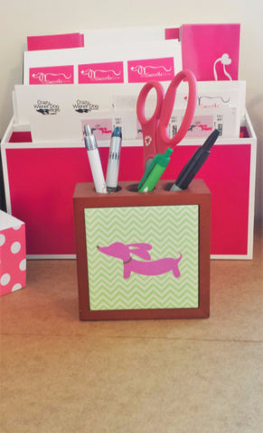 Dachshund Desk Pen Holder, The Smoothe Store