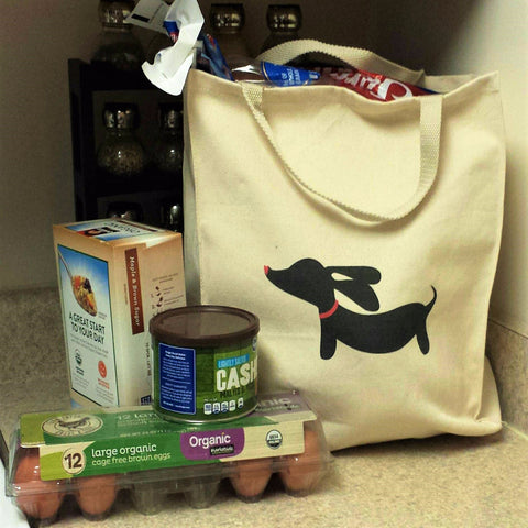 Dachshund Grocery Tote Bag