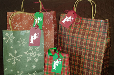 Plaid Reindeer Doxie Christmas Gift Tags - The Smoothe Store - 2
