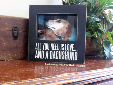 """All You Need is Love and a Dachshund"" Picture Frame - The Smoothe Store"