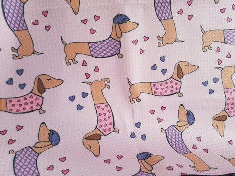 Wiener Dog Love Dish Towel - The Smoothe Store - 2