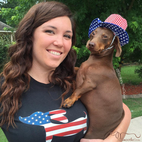 American Wiener Dog Shirt, The Smoothe Store