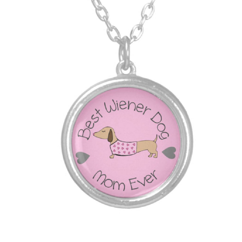 Best Wiener Dog Mom Ever Necklace