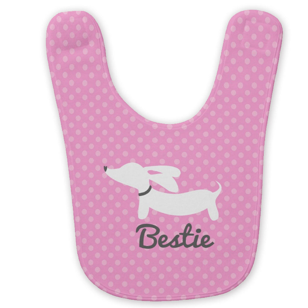 Bestie Wiener Dog Baby Bib - The Smoothe Store