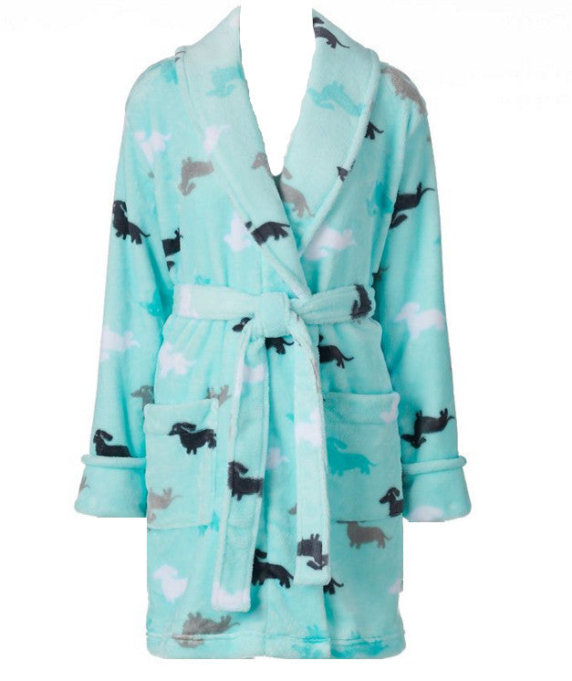 Dachshund Plush Wrap Robe - The Smoothe Store - 1