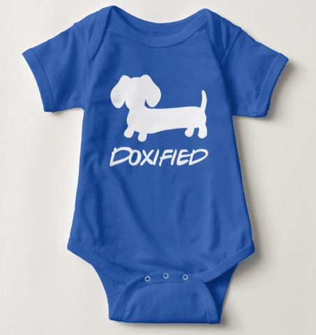 Doxified Dachshund Baby One Piece Baby Outfit - The Smoothe Store