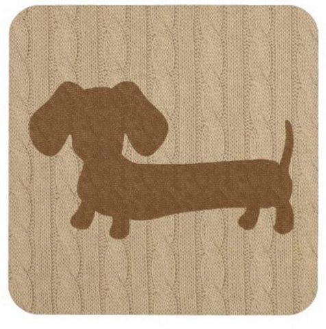 Fair Isle Dachshund Drink Coaster Set