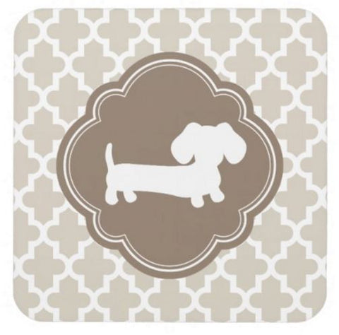 Brown & Beige Dachshund Drink Coaster Set