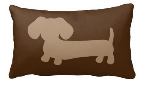 Brown and Tan Dachshund Pillow, The Smoothe Store