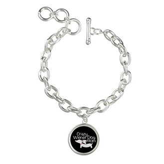 Crazy Wiener Dog Mom Charm Bracelet, The Smoothe Store