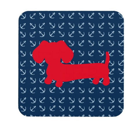 Nautical Dachshund Drink Coaster Set