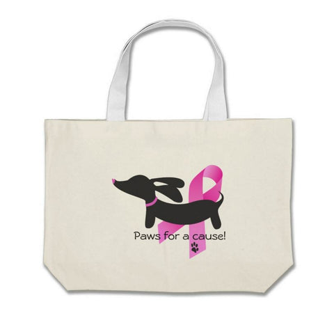 Paws for a Cause - Breast Cancer Awareness Tote Bag