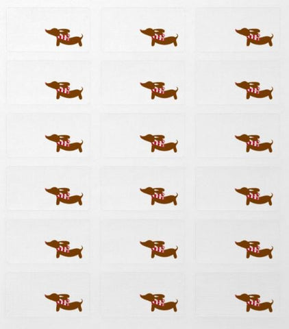Dachshund Christmas Gift Labels (18 per sheet) - The Smoothe Store