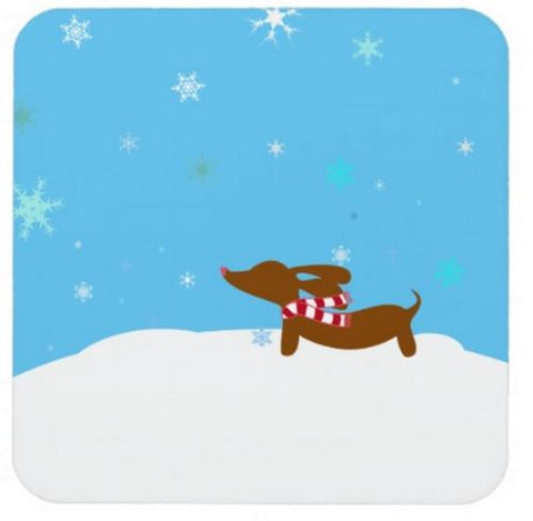 Winter Dachshund Drink Coaster Set