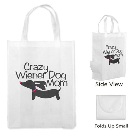 Crazy Wiener Dog Mom Dachshund Tote Bags - The Smoothe Store - 5