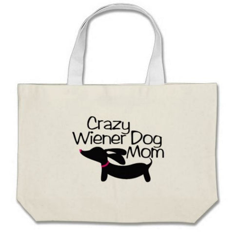 Crazy Wiener Dog Mom Dachshund Tote Bags - The Smoothe Store - 2