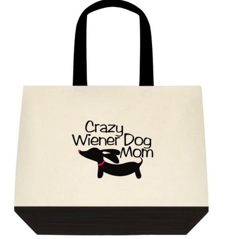 Crazy Wiener Dog Mom Dachshund Tote Bags - The Smoothe Store - 3