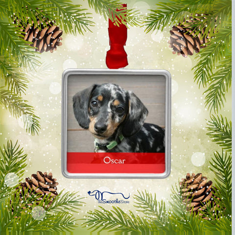 Custom Photo Dachshund Christmas Tree Ornament - The Smoothe Store