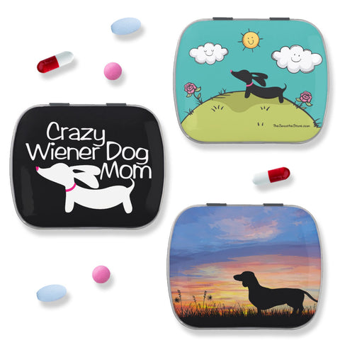 Dachshund Pill Case or Tiny Treat or Gift Tin