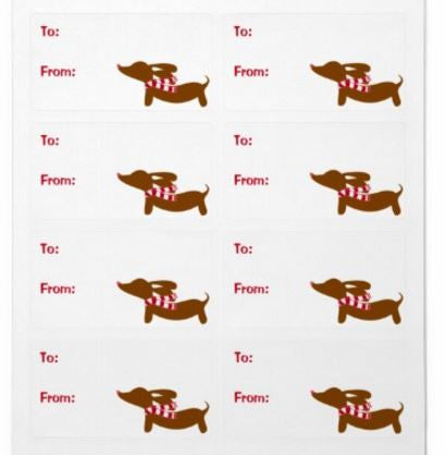 Dachshund Christmas Gift Labels (8 per sheet) - The Smoothe Store