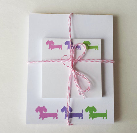 Dachshund Notepad & Sticky Notes Gift Set