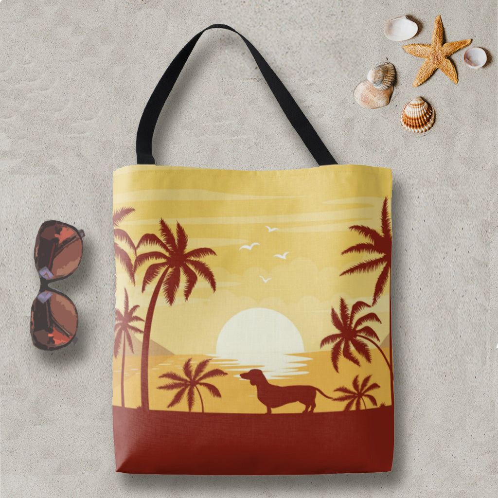 SoCal Style Dachshund Tote Bag, The Smoothe Store