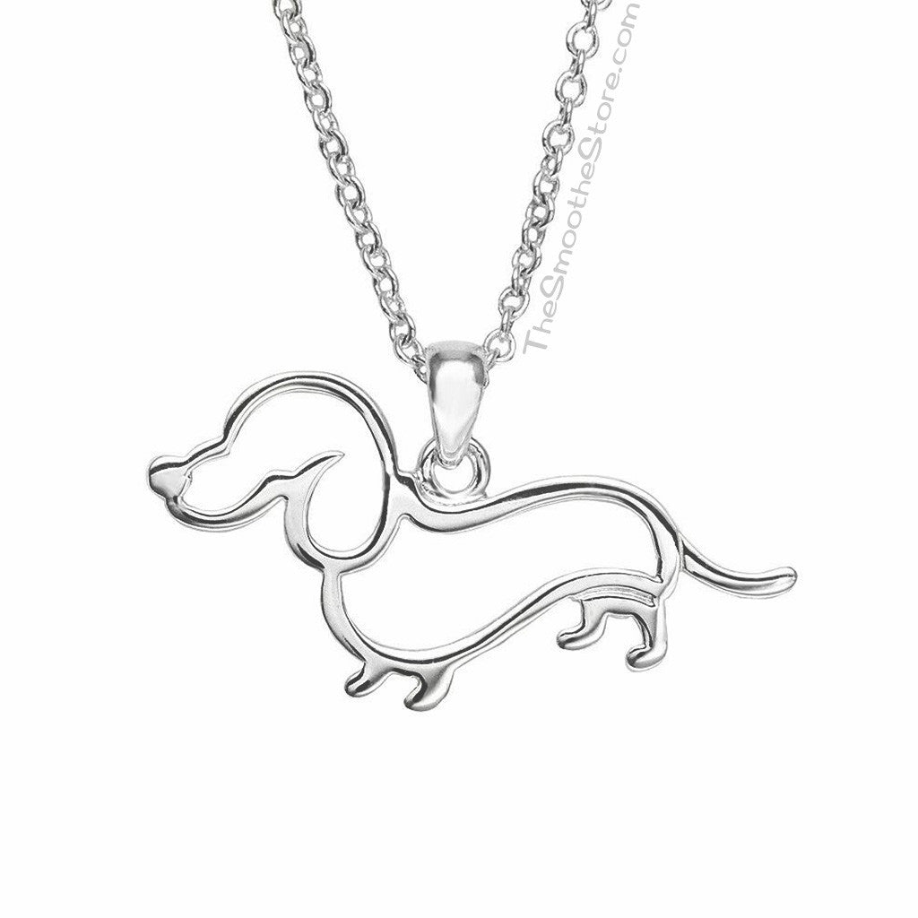 Dachshund Silhouette Necklace, The Smoothe Store