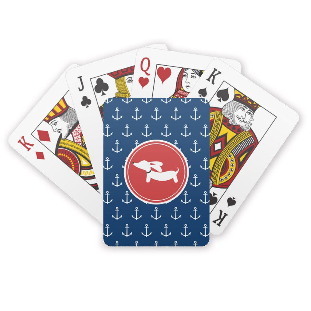 Nautical Themed Deck of Dachshund Playing Cards - The Smoothe Store