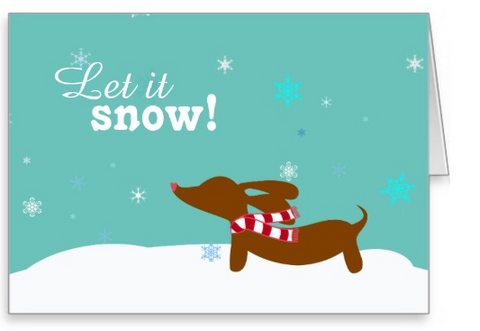 Wiener Wonderland Dachshund Christmas Cards - The Smoothe Store - 2