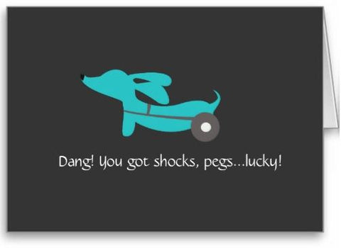 Wheelie Dachshund Note Card - The Smoothe Store - 4