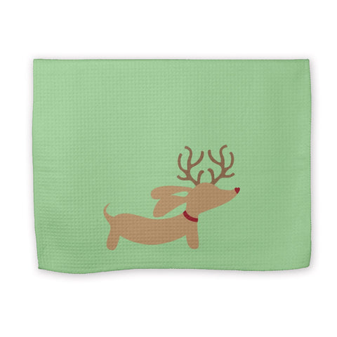 Christmas Weendeer Dachshund Kitchen Dish Towels, The Smoothe Store