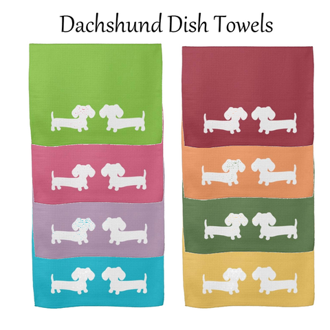 Dachshund Kitchen Dish Towels