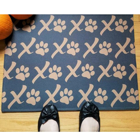 XOXO Puppy Love Paw Print Doormat, The Smoothe Store