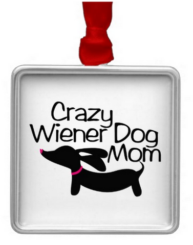 Crazy Wiener Dog Mom Rear View Mirror Car Charm, The Smoothe Store
