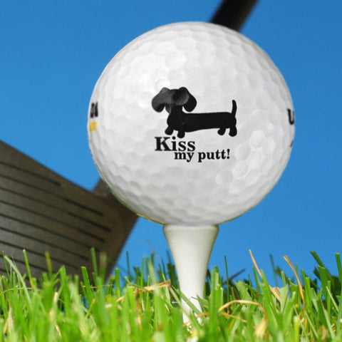 Kiss My Putt Dachshund Golf Balls, The Smoothe Store