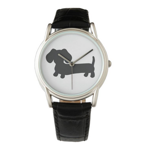 Black, Brown or Gray Dachshund Leather Watches - The Smoothe Store